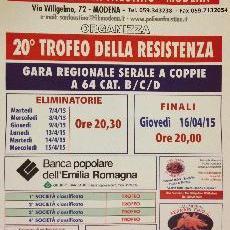 """Bocciofila San Faustino """"20° TROFEO DELLA RESISTENZA"""""""